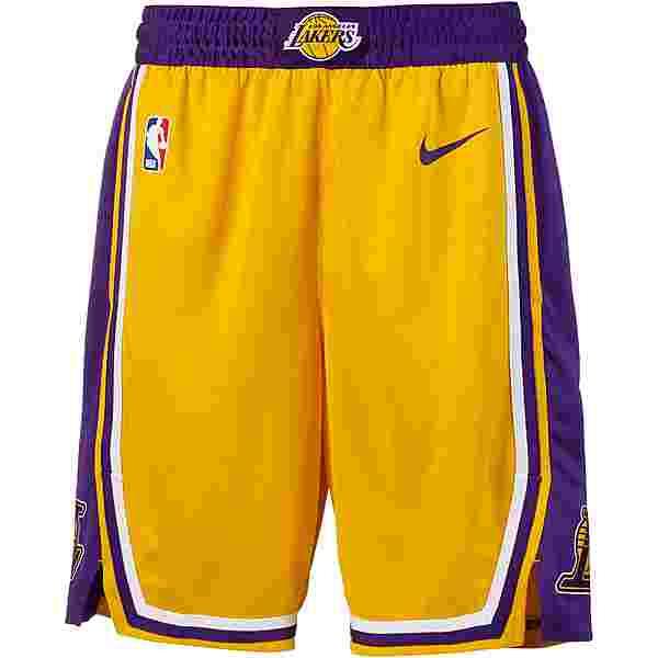 Nike Los Angeles Lakers Basketball-Shorts Herren amarillo-field purple-white