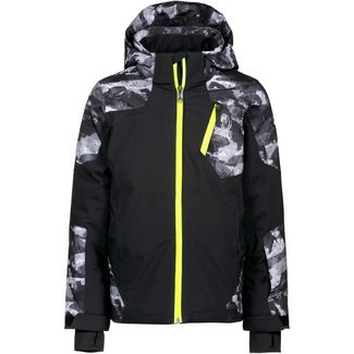 Spyder Skijacke Kinder black-camo distress print-bryte yellow