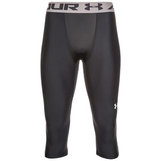 Under Armour Baseline Knee Kompressionshose Herren schwarz / grau