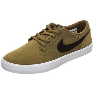 Nike Portmore II Solarsoft Sneaker Herren oliv / schwarz