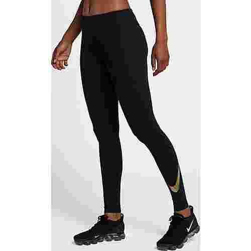 Nike Flash Essential Lauftights Damen black/reflective silver