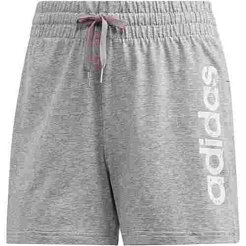 adidas Shorts Damen medium grey heather-black
