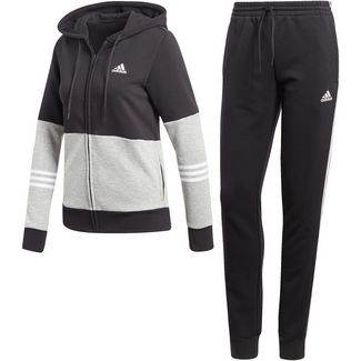 adidas Trainingsanzug Damen black-medium grey heather-white