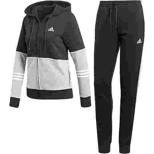 adidas Trainingsanzug Damen black-medium grey heather-white
