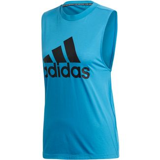 adidas Badge of Sport Tanktop Damen shock cyan-legend ink