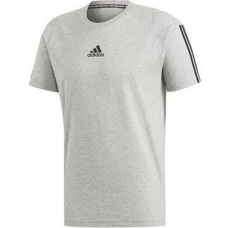 adidas MH 3S Funktionsshirt Herren medium grey heather-black