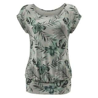 Lascana Longshirt Damen taupe-grün