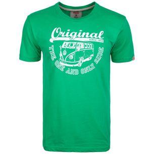 VAN ONE Original Ride T-Shirt Herren grün / weiß