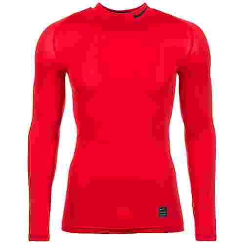 Nike Pro Kompressionsshirt Herren rot