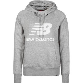 NEW BALANCE Essentials Hoodie Damen grau