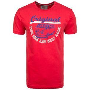 VAN ONE Original Ride T-Shirt Herren rot / weiß / blau