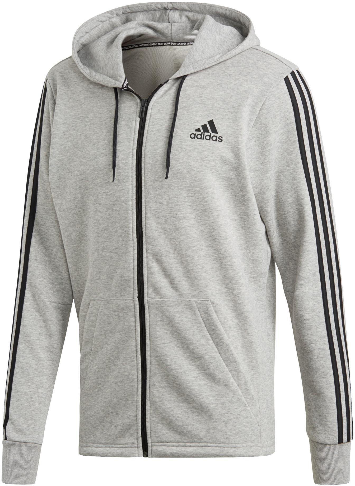 adidas Sweatjacke Herren medium grey heather im Online Shop von SportScheck kaufen