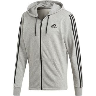 adidas Sweatjacke Herren medium grey heather