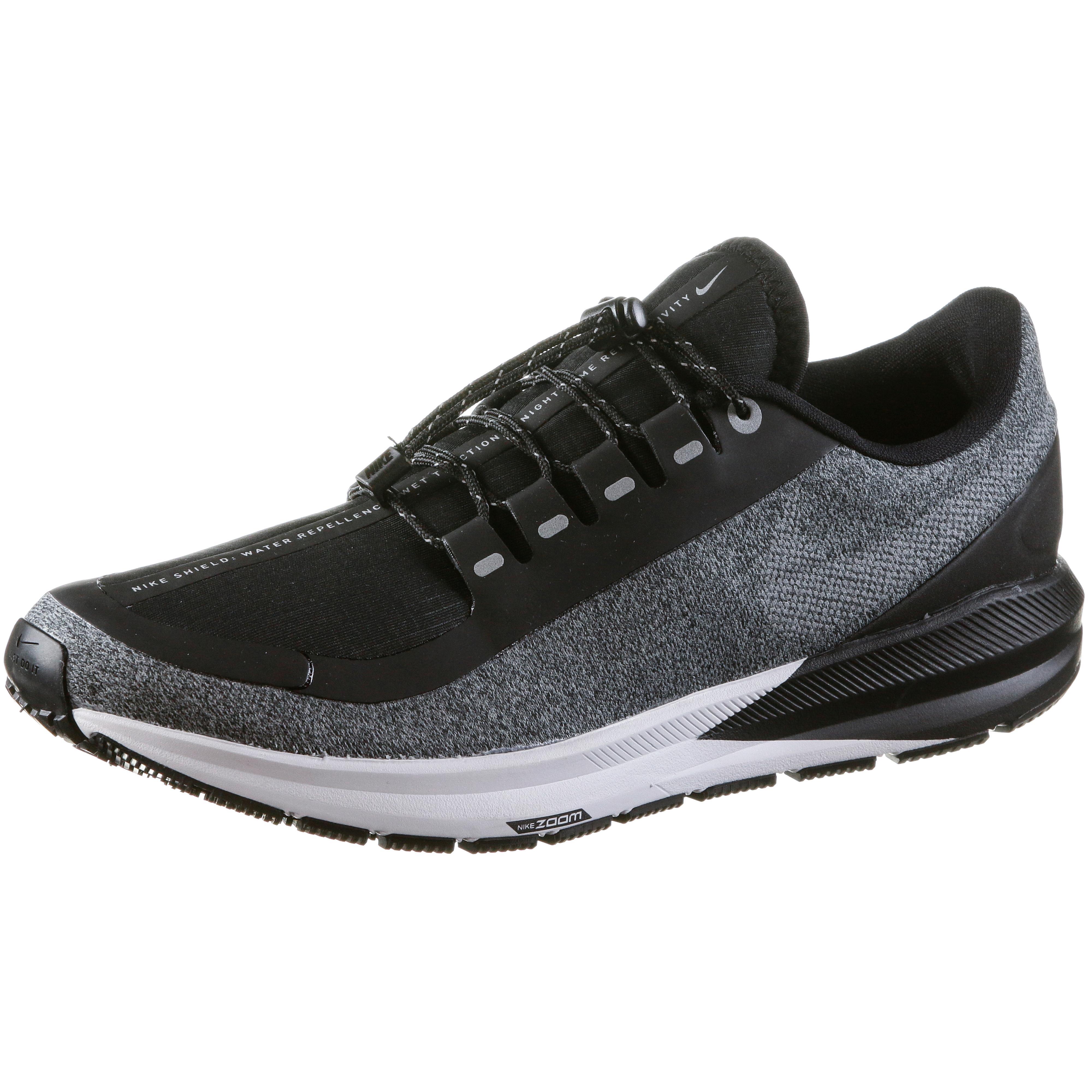 945ebac39ba Nike Air Zoom Structure 22 Shield Laufschuhe Damen black-metallic-silver- cool-grey im Online Shop von SportScheck kaufen