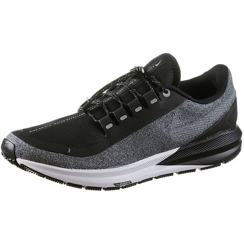 c9e0faabb0c Nike Air Zoom Structure 22 Shield Laufschuhe Damen black-metallic-silver- cool-