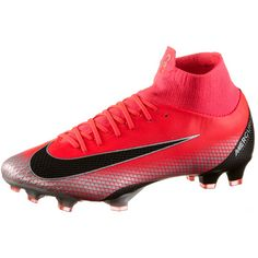 Nike MERCURIAL SUPERFLY 6 PRO CR7 FG Fußballschuhe Herren brt crimson-black-chrome-dk grey