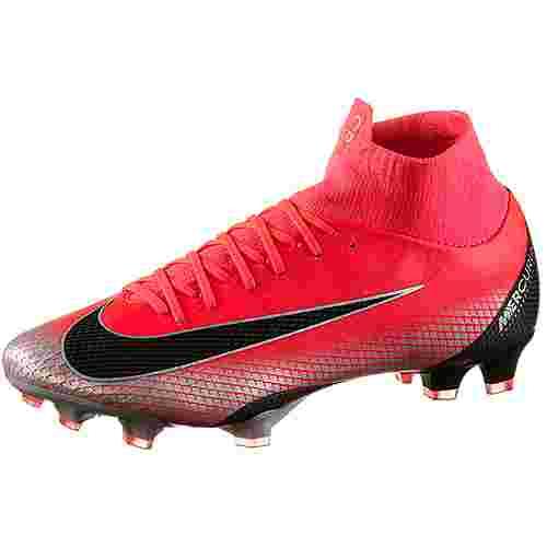 Nike MERCURIAL SUPERFLY 6 PRO CR7 FG Fußballschuhe brt crimson-black-chrome-dk grey