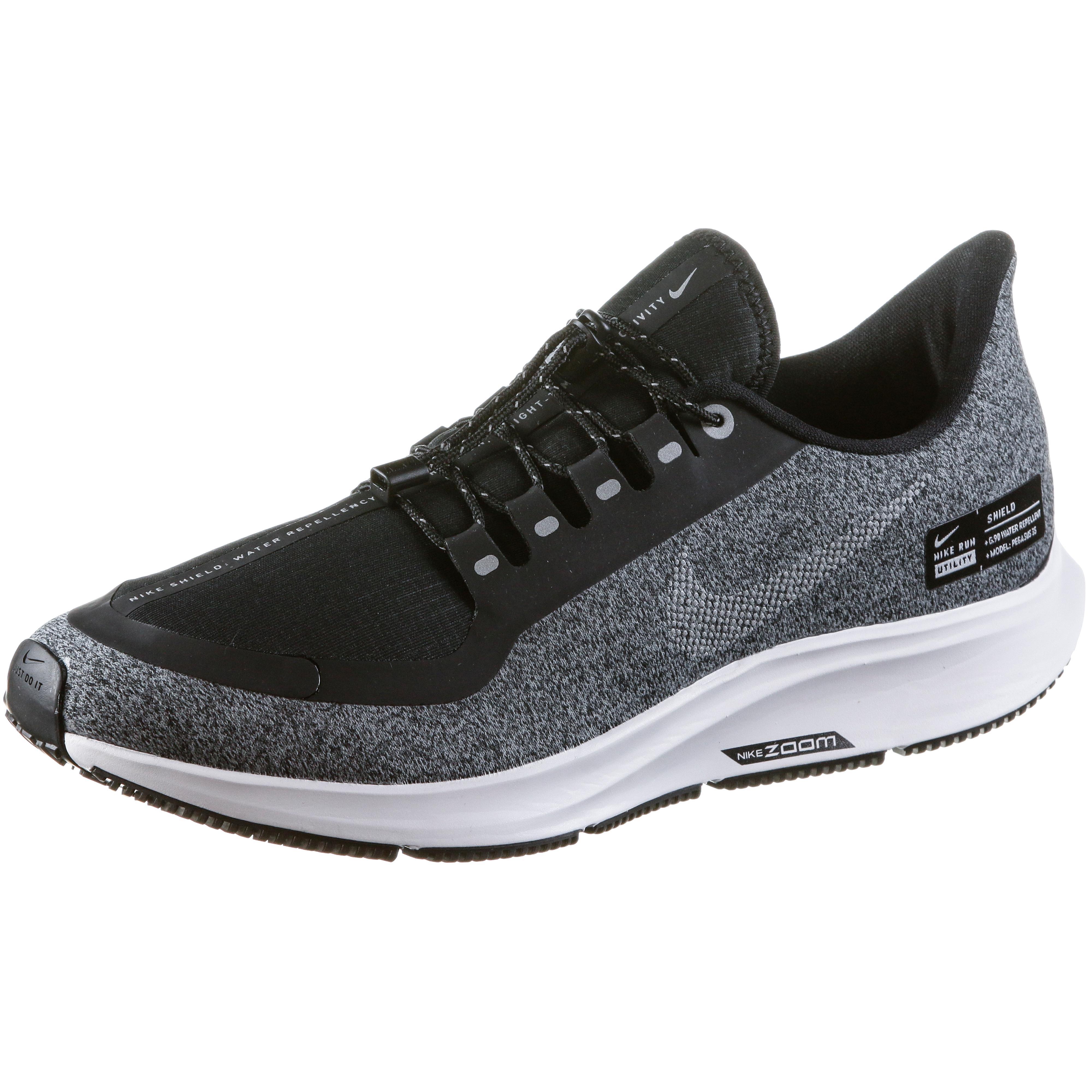 Nike AIR ZOOM PEGASUS 35 SHIELD Laufschuhe Damen black-metallic ...