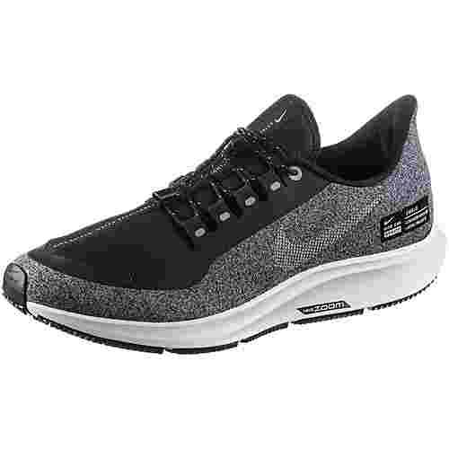 Nike AIR ZOOM PEGASUS 35 SHIELD Laufschuhe Damen black-metallic-silver-cool-grey