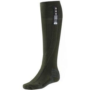 Lenz heat sock 4.0 toe cap Skisocken grün