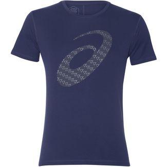 ASICS Silver Graphic Laufshirt Herren indigo blue