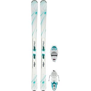K2 LUV 75 WHITE ER3 10 COMPACT QUIKCLIK All-Mountain Ski Damen weiß-grün