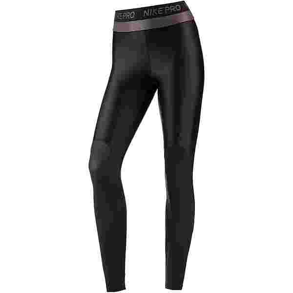 Nike Pro Hypercool Glamour Tights Damen black-black-clear