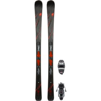 K2 SECRET LUV ER3 10 COMPACT QUIKCLIK All-Mountain Ski Damen schwarz-rot