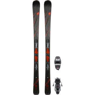 K2 SECRET LUV ER3 10 COMPACT QUIKCLIK All-Mountain Ski Damen schwarz-rot