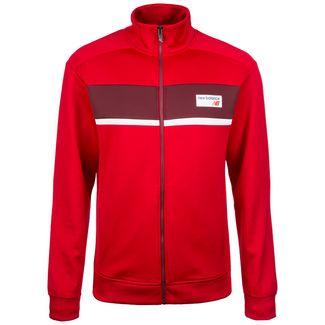 NEW BALANCE Athletics Track Sweatjacke Herren rot / weiß