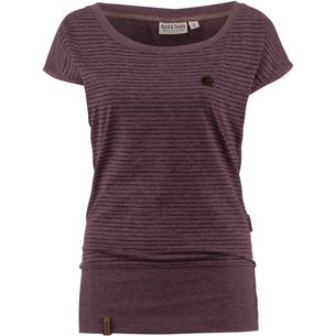 Naketano Wolle Dizzy T-Shirt Damen bordeaux melange