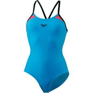 SPEEDO Splice Schwimmanzug Damen blue pink