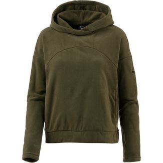 Nike Therma Polar Hoodie Damen olive canvas/black