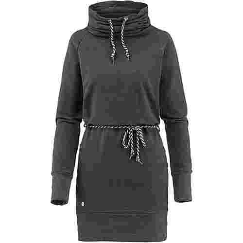 Mazine Langarmkleid Damen black melange-dots