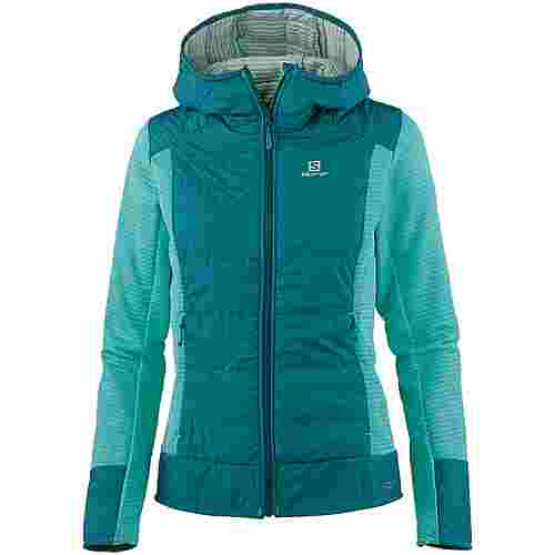 Salomon RIGHT Funktionsjacke Damen waterfall-deep-lagoon