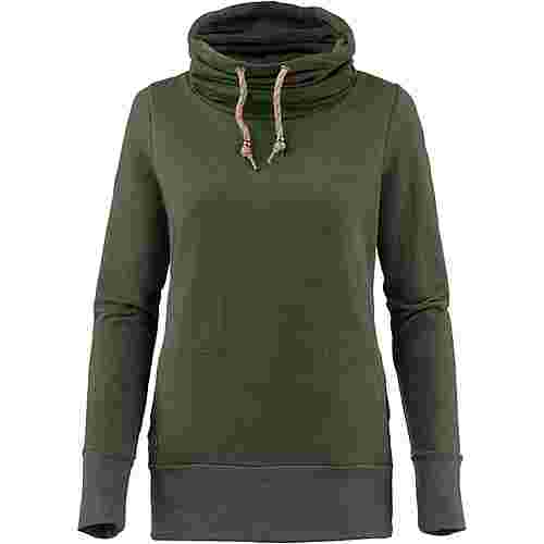 Mazine Sweatshirt Damen olive melange-flamingos