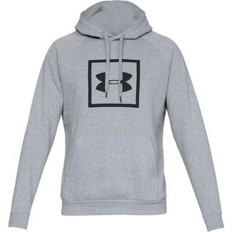 Under Armour RIVAL Hoodie Herren gray