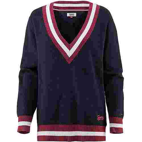 Tommy Jeans College Sweater Strickpullover Damen black-iris