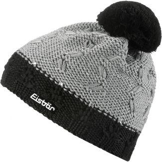 Eisbär Crystal Bommelmütze Damen schwarz-graumelange