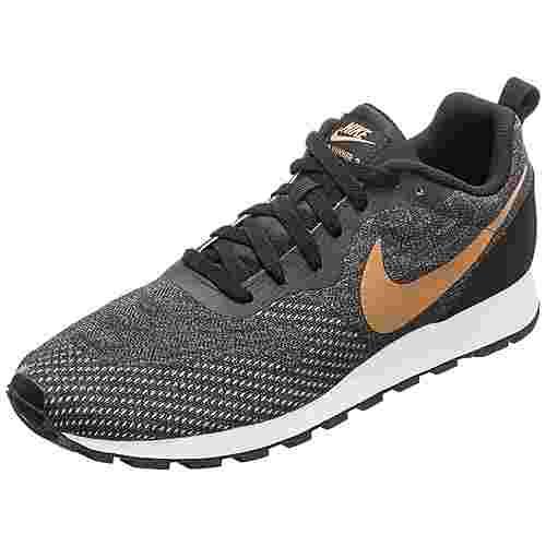 Nike MD Runner 2 Engineered Mesh Sneaker Herren schwarz / gold