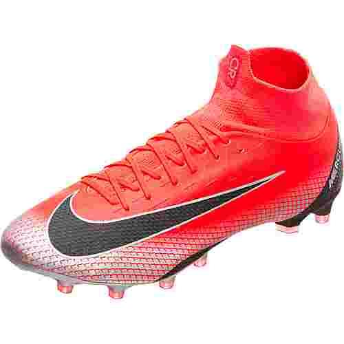 Nike Mercurial Superfly VI Pro CR7 Fußballschuhe Herren neonrot / schwarz