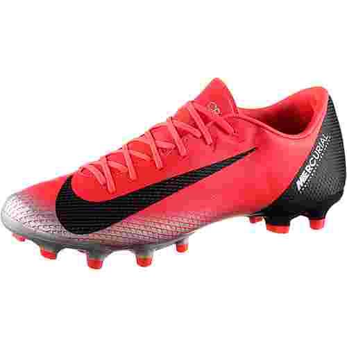 Nike MERCURIAL VAPOR 12 ACADEMY CR7 FG/MG Fußballschuhe brt crimson-black-chrome-dk grey