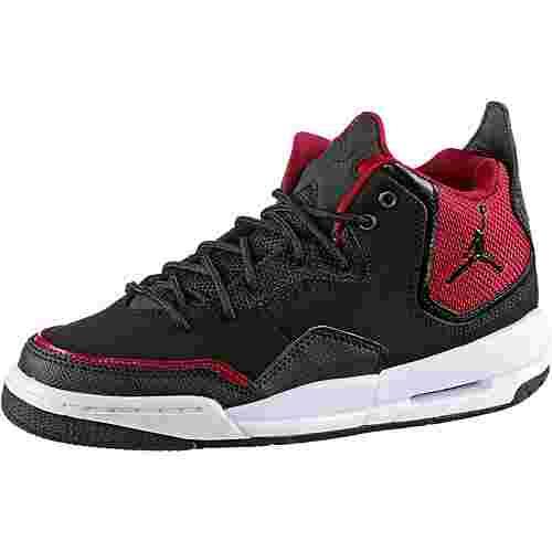 Nike Jordan Courtside Basketballschuhe Kinder black-black-gym red-white