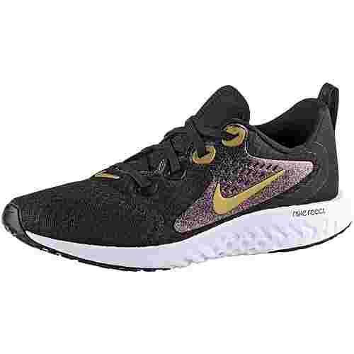 Nike React Laufschuhe Kinder black-mtlc gold-black