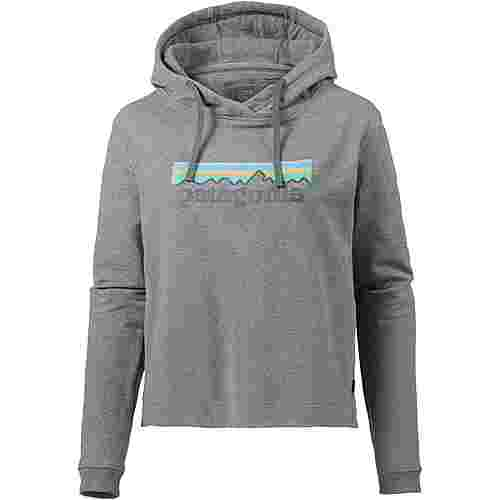 Patagonia Pastel P-6 Logo Hoodie Damen gravel heather
