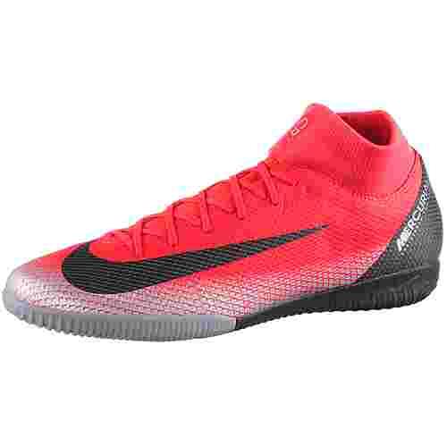 Nike MERCURIAL SUPERFLYX 6 ACADEMY CR7 IC Fußballschuhe brt crimson-black-chrome-dk grey