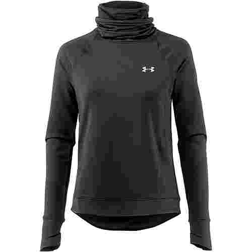 Under Armour ColdGear Reactor Laufshirt Damen black-black-reflective