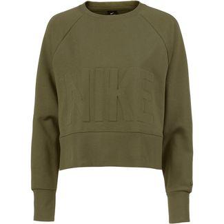 Nike Crew Funktionssweatshirt Damen olive canvas/black