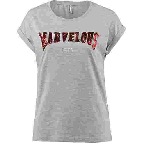 Only T-Shirt Damen light grey melange