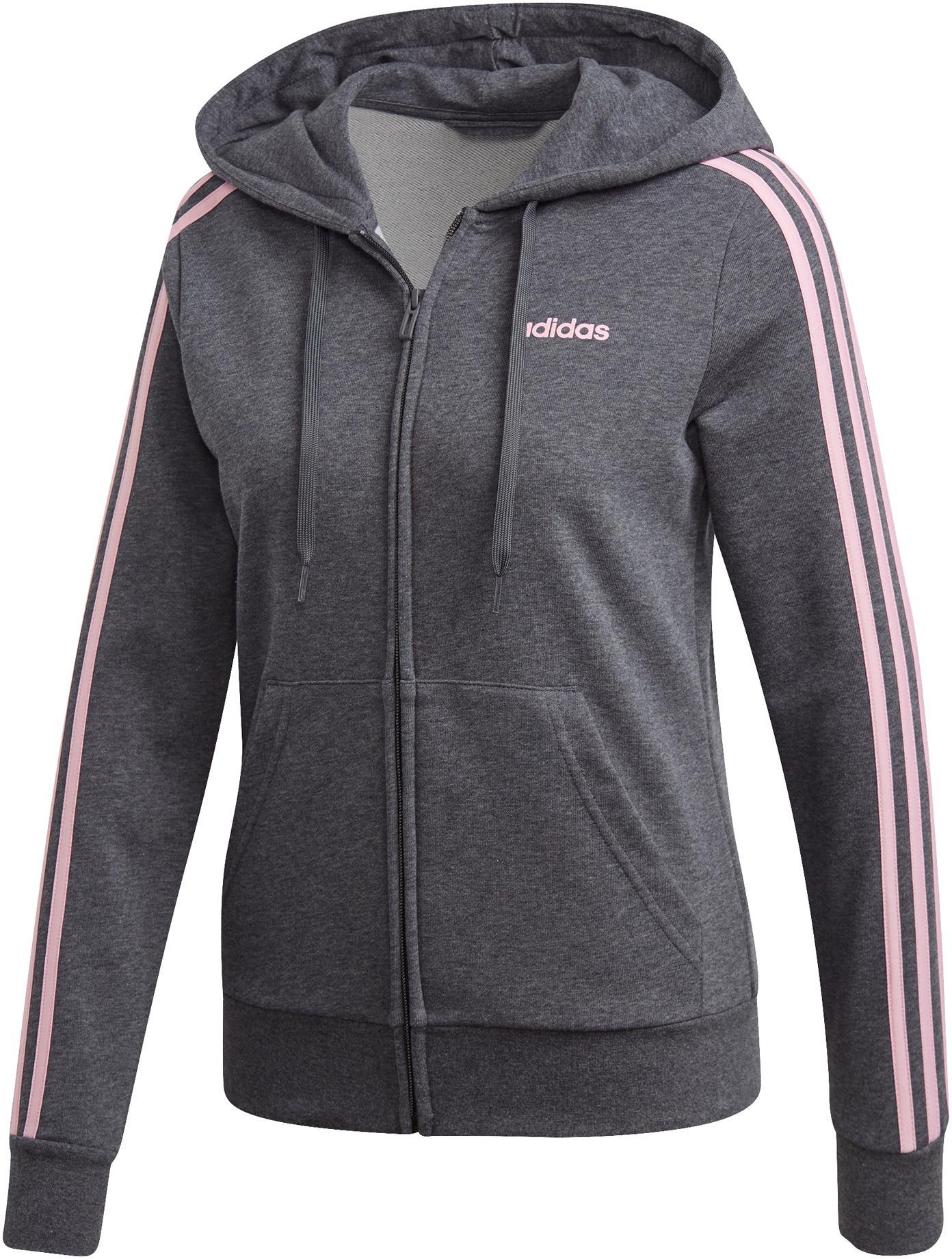 adidas Essential 3S Full Zip Sweatjacke Damen dark grey heather im Online Shop von SportScheck kaufen